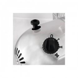 Ventilator de birou cromat, 3 viteze, putere 35W, palete metalice, Home