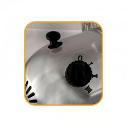Ventilator cu stativ, inaltime reglabila, argintiu, Home