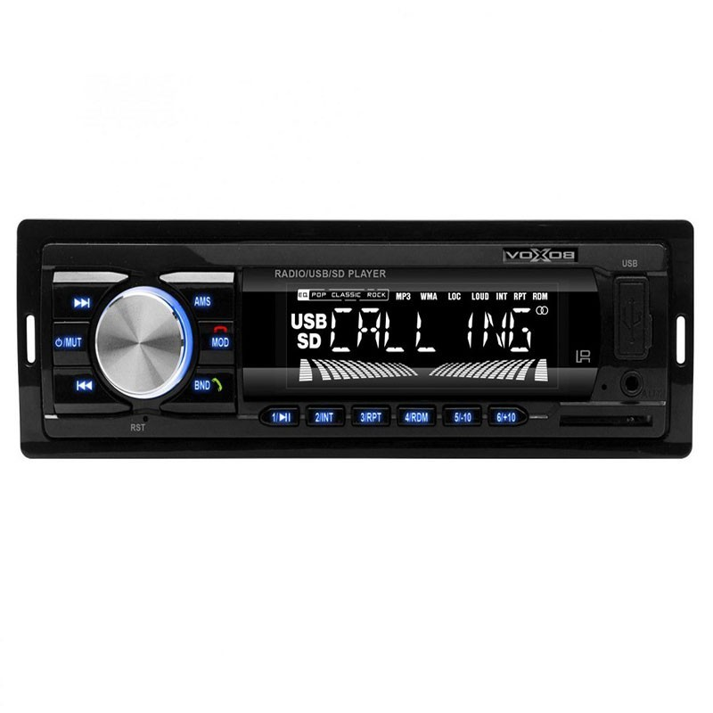 Radio auto, MP3, 18 posturi FM, Bluetooth, afisaj ora, Sal