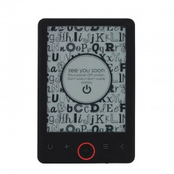 eBook Reader, display 6 inch eInk, 4 GB, microSD, slim, negru, Metek