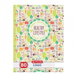 Caiet Herlitz A5 80 file Healthy Lifestyle