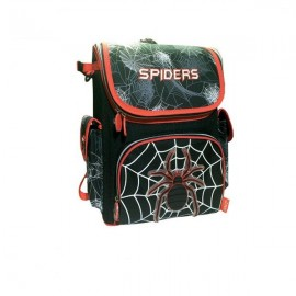 Ghiozdan Spiders pentru baieti, 2 compartimente, bretele captusite, Daco