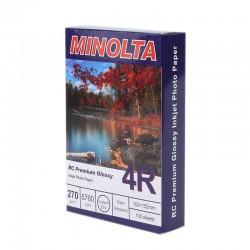 Hartie foto Minolta, 10x15, 270g, RC Premium Glossy, 100 coli