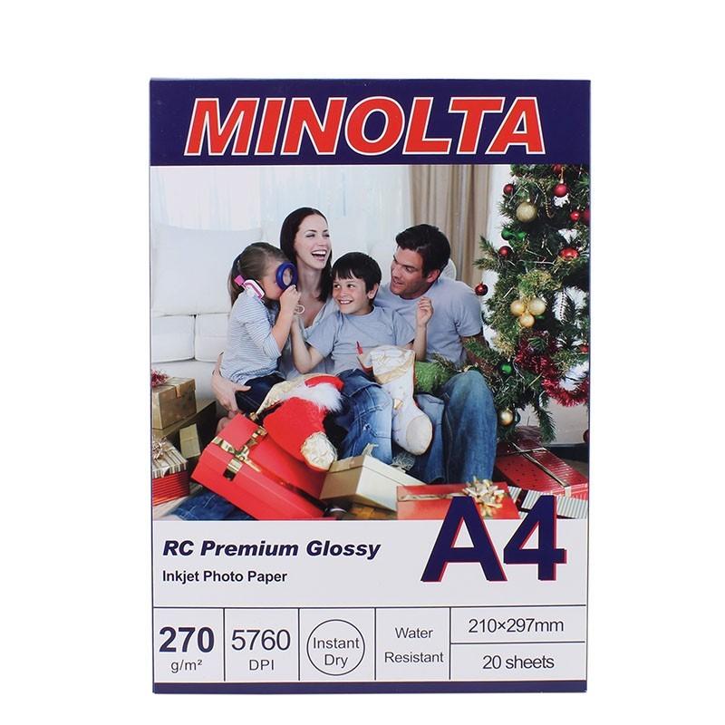 Hartie foto Minolta A4, 270g, RC Premium Glossy, 20 coli