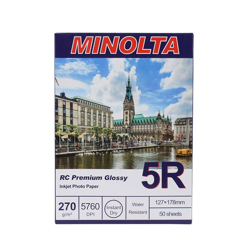Hartie foto Minolta, 13x18, RC Premium Glossy, 270g, 50 coli