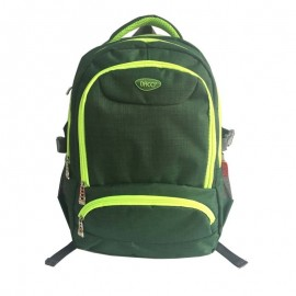 Ghiozdan liceu, 1 compartiment, 2 buzunare, verde, Daco