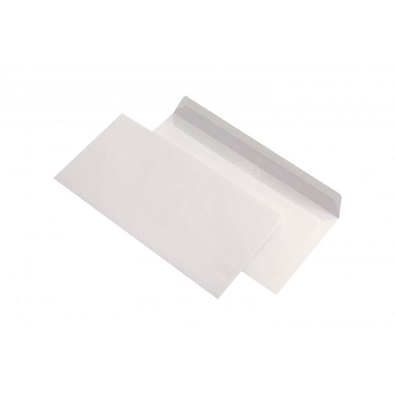 Plicuri DL autoadezive albe set 100 bucati