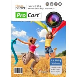 Hartie FOTO Dual Side, Mata, 250g, format A4, top 20 coli