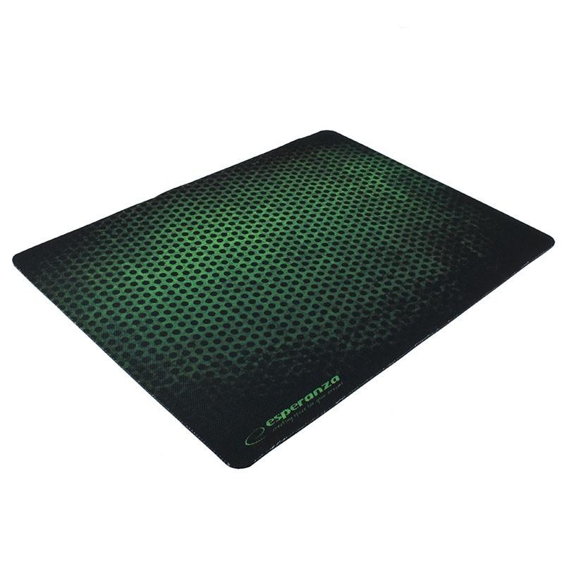 Mouse pad gaming, 40x30 cm, antiderapant, verde, Esperanza Grunge Maxi