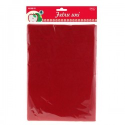 Material fetru colorat format A4, set 4 sau 10 coli pasla