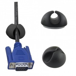 Suport multifunctional tip clema pentru cabluri, 6 bucati, Esperanza