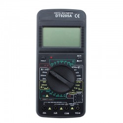 Multimetru digital UAT-D, ecran LCD, 9V, carcasa antisoc, negru