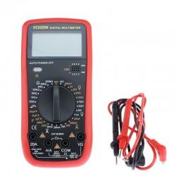 Multimetru digital profesional, ecran LCD, 2 functii, rosu