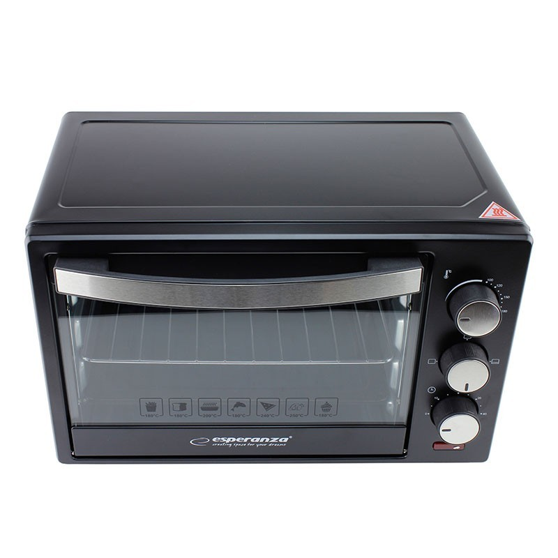Cuptor electric 1600W, 20l, timer, 3 functii, grill, Esperanza Prosciutto