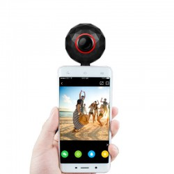 Camera foto panoramica smartphone, 360 grade sferic, microUSB, Lolly