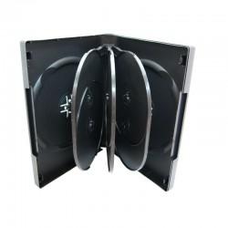 Carcasa plastic pentru 8 DVD-uri