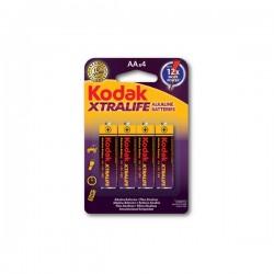 Baterii alcaline AA, 1.5V, set 4 bucati, Kodak Xtralife