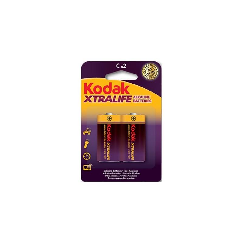 Set 2 baterii alcaline R14, 1.5V, Kodak