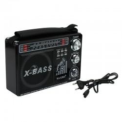 Radio portabil MP3, USB, SD, 3 frecvente AM/FM/SW, acumulator, Waxiba