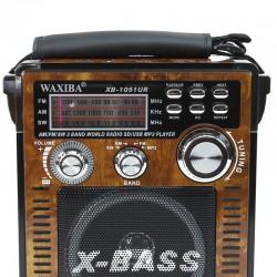 Radio retro, MP3 player, SD/USB, 3 frecvente, control volum, Waxiba