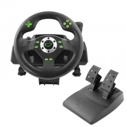 Volan si pedale racing games PC, PS3, vibratii, 12 butoane, Esperanza Drift