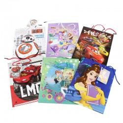 Pungi cadou personaje Disney, 23x17,5x10 cm, set 6 bucati