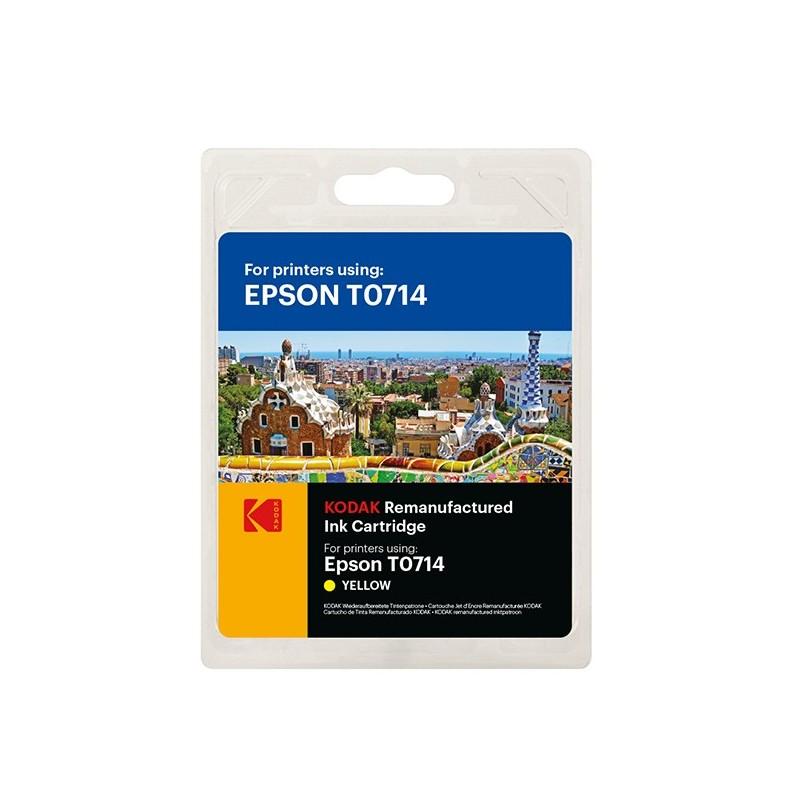 Cartus inkjet original Kodak, compatibil cu Epson T0714, Yellow, 5.5 ml, Premium Kodak
