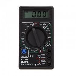 Multimetru digital, 9V, ecran LCD, negru
