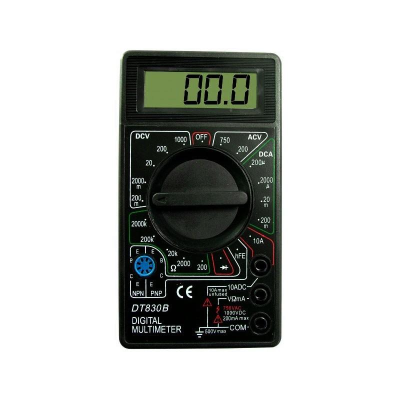 Multimetru afisaj LCD digital, aparat masura 19 scale, 2 testere, negru