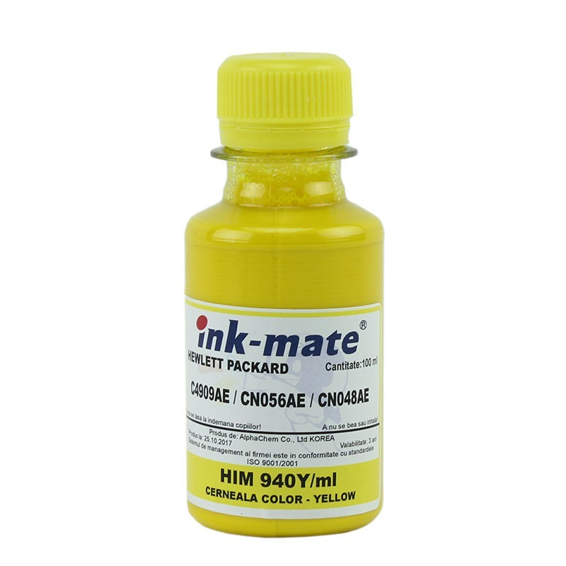 Cerneala pigment Yellow refill pentru HP940