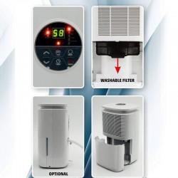 Dezumidificator de aer, Home DHM 10L, capacitate rezervor 2.2 L, dezumidificare max. 10L/zi