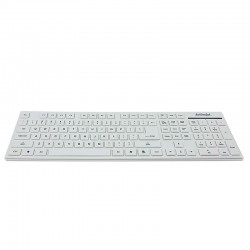 Tastatura Slim dimensiune standard, Activejet, Alb