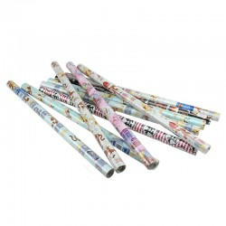 Set 10 role hartie decorativa de impachetat, 200x70 cm
