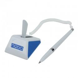 Pix cu stativ, snur si suport adeziv birou, Nebo, alb/albastru