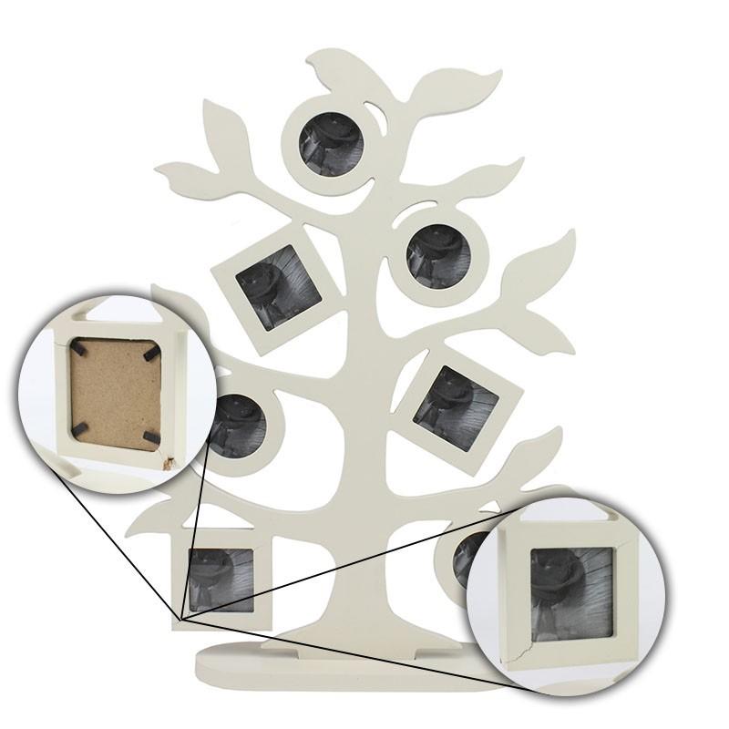 Rama foto multipla in forma de copac, lemn, 32x42 cm, Resigilata