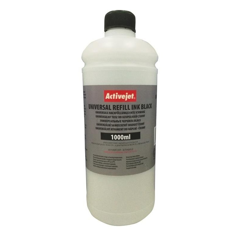 Cerneala refill universala black 1000 ml, Activejet