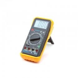 Multimetru profesional, ecran LCD, sonda temperatura, carcasa antisoc, Home