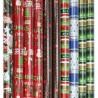 Hartie decorativa ambalare cadouri de Craciun, 200x70cm, set 10 role
