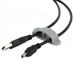 Suport organizator 3 cabluri, set 3 bucati, autoadeziv, tip clema