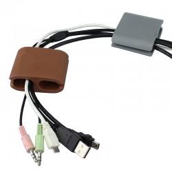 Organizator cabluri BINO, silicon flexibil, set 2 bucati