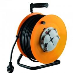Prelungitor rola tambur, 4 prize, 50 m, 3 x 1,5 mm2,  IP44
