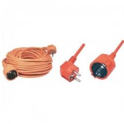 Prelungitor cablu H05VV-F 3G1,0 mmp, 2300W, IP20, portocaliu, Home