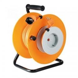 Cablu prelungitor pe tambur, 27+3m, 2300W, suport metalic, IP20, Home