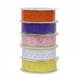 Banda adeziva decorativa dantela, latime 18 mm, lungime 1 m, set 5 role