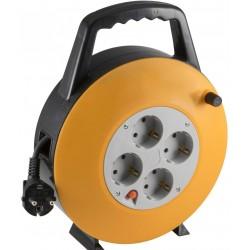 Cablu prelungitor  tambur, 4 prize impamantare, 10m, IP20, Home
