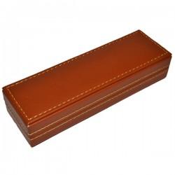 Etui inscriptionabil maro pentru 1 instrument de scris