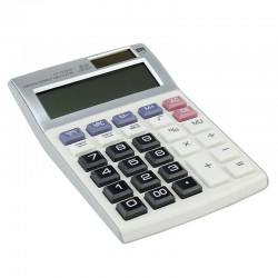 Calculator electronic de birou, 12 digiti, alimentare duala, ABS
