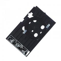Tavita pentru personalizare CD/DVD, 245x150 mm, ABS, negru