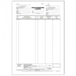 Aviz de insotire marfa, A4, 3 exemplare, 50 file/carnet, tipar fata