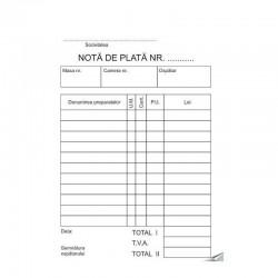 Nota de plata, format A6 RS, 100 File/Bloc